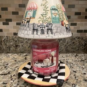Candle shade with matching plate set